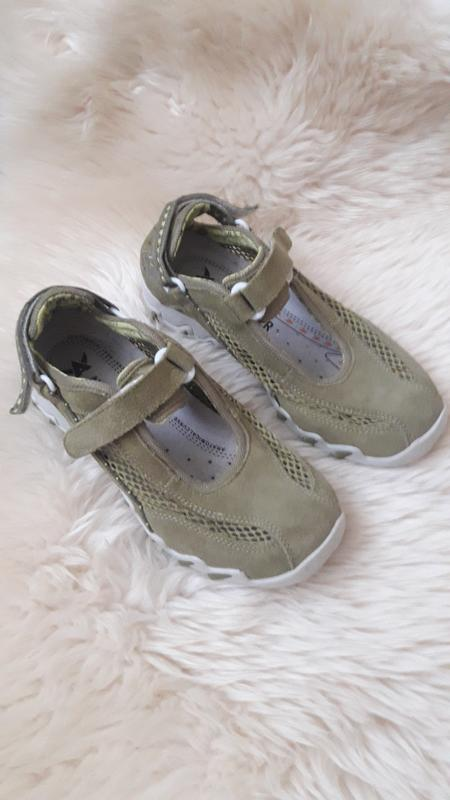 Фирменные замшевые кроссовки на липучках allrounder 35 размер
