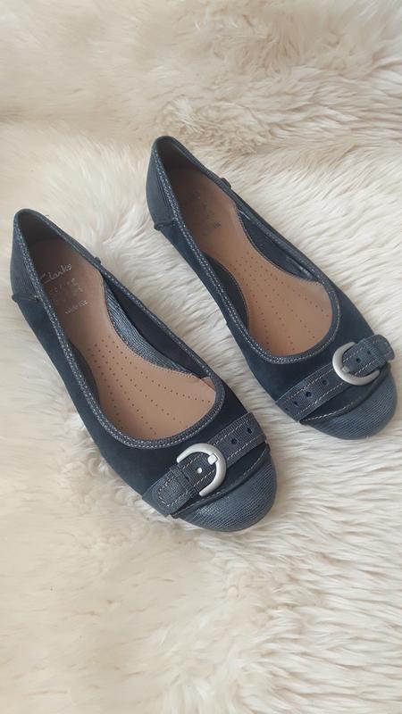 Кожаные туфли clarks 43 размер