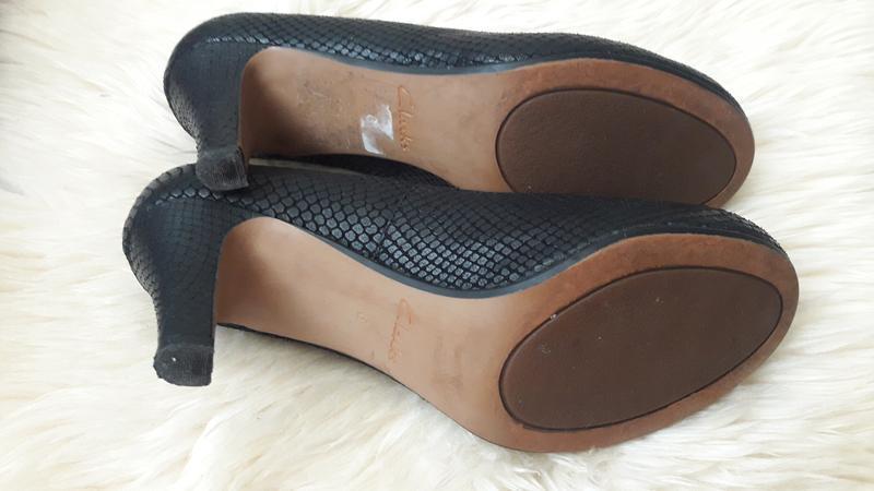 Кожаные туфли clarks 39 размер - Фото 6