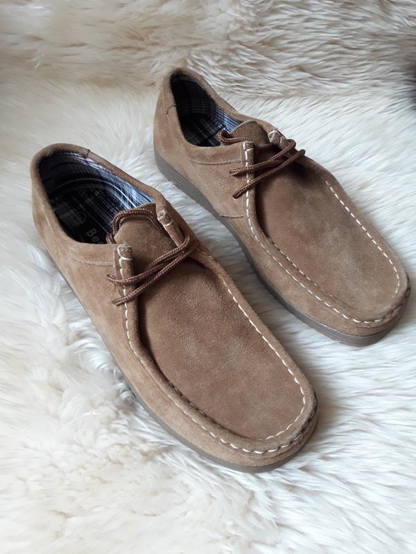 Замшевые туфли полуботинки beckett 42 размер