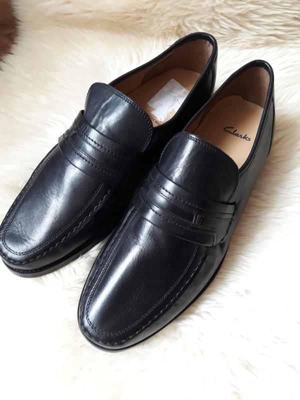 Кожаные туфли  clarks  44.5 размер