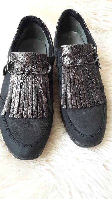Кожаные туфли tamaris 39 размер - Фото 2
