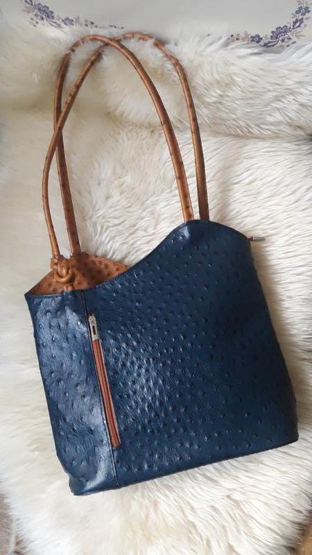 Кожаная сумка -рюкзак borse in pelle италия