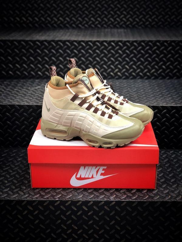 Nike air max 95 sneakerboot beige мужские зимние ботинки термо...