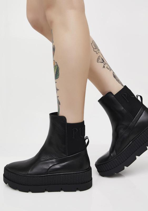 Шикарные женские демисезонные ботинки puma fenty by rihanna ch...