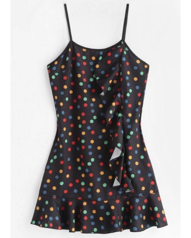 Плаття, сукня трендова 2019 року, в горошок стиль 80, модна су...