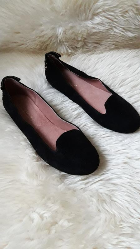 Замшевые балетки туфли naf - naf  39 размер