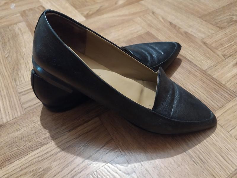 Туфли без каблука кожа 38 на ногу 25 см