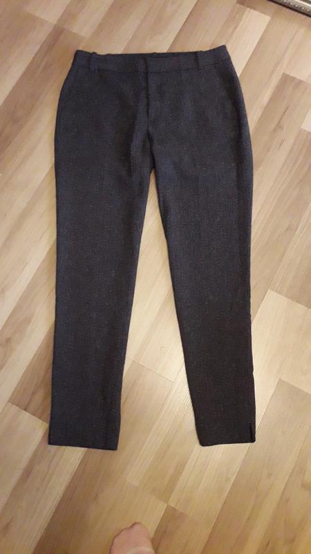 Зауженые укороченые брюки zara