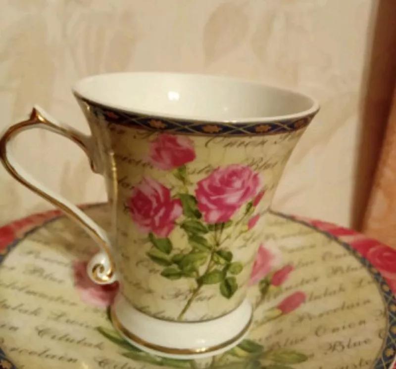"""Кофейный сервиз """"Нежные розы"""""""