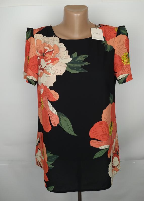 Блуза шикарная новая в цветы oasis uk 10/38/s