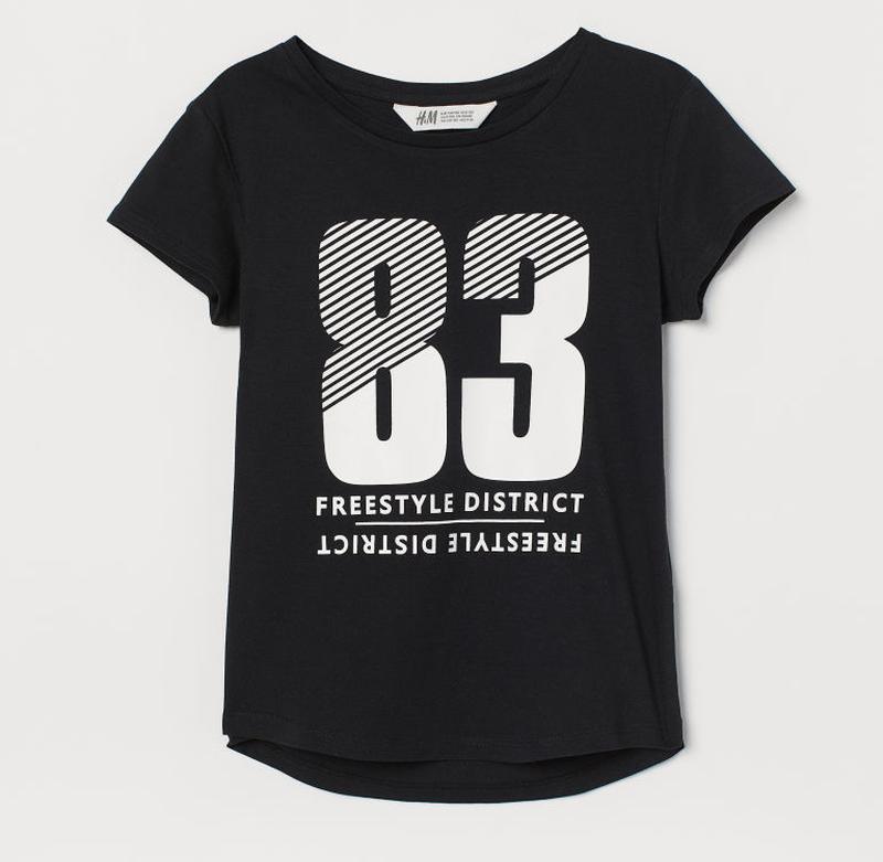 """H&m футболка для девочки """"83"""""""