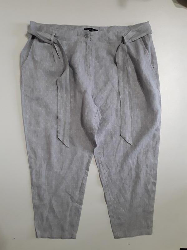 Фирменные хлопковые укороченные брюки штаны