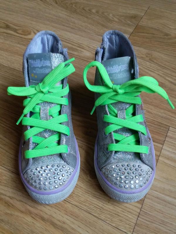 Детские кеды ботинки Skechers twinkle toes pop princess подсветка