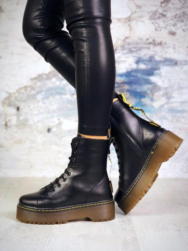 Супер-хит! зимние кожаные ботинки берцы мартинсы