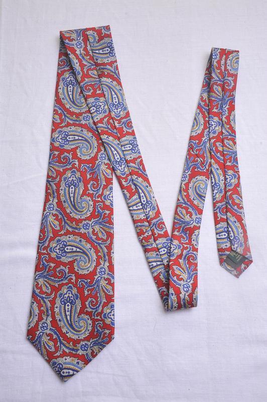 Крутой фактурный  галстук ralph lauren 👍👍👍