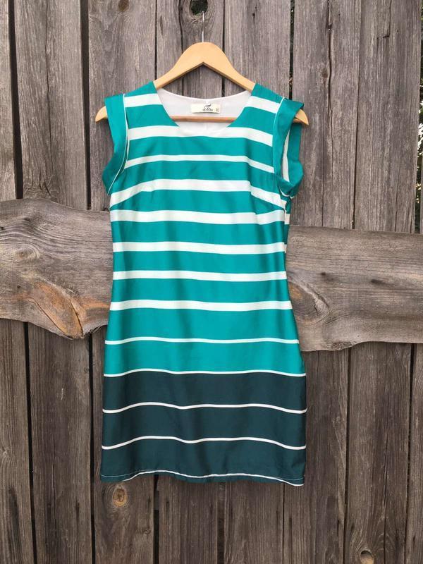 Легкое платье в полоску полосатое платье на лето