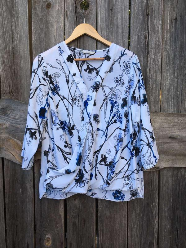 Блузка рубашка на запах