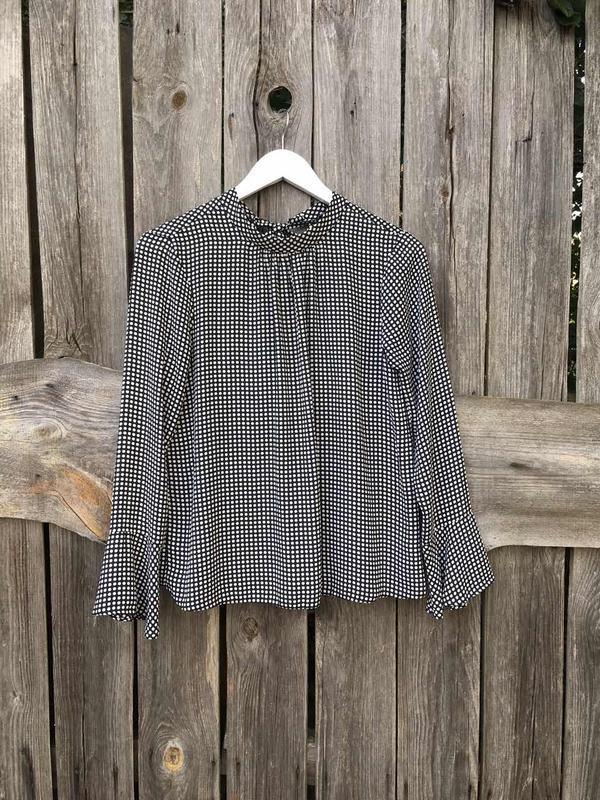 Блуза блузка в горошек с бантиком