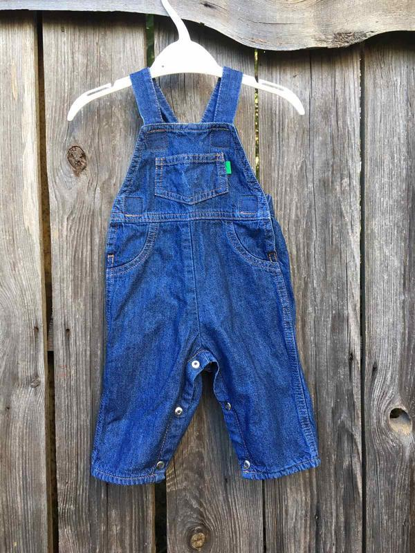 Комбинезон  джинс полукомбинезон утепленный джинсовый с подкла...