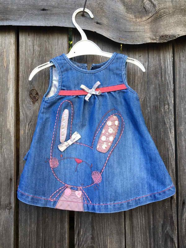 Джинсовое платье комбинезон next юбка