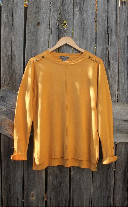 Горчичный свитер, свободный джемпер