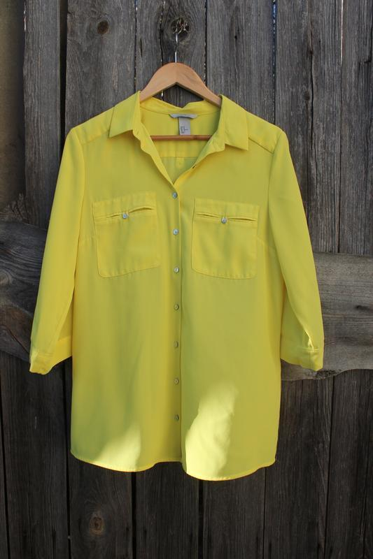Яркая рубашка блузка от h&m