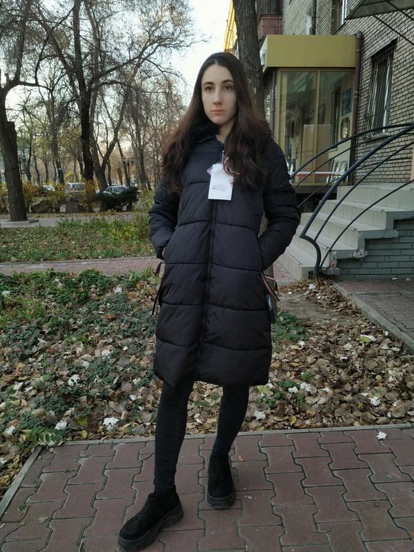 Пуховик пальто на синтапоне длинная куртка monte cervino