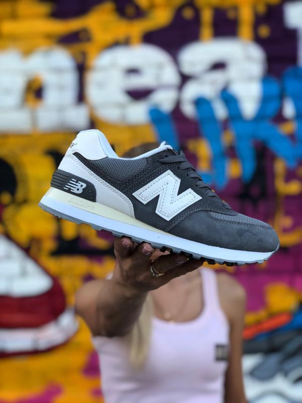 New balance 574 grey мужские демисезонные кроссовки серые