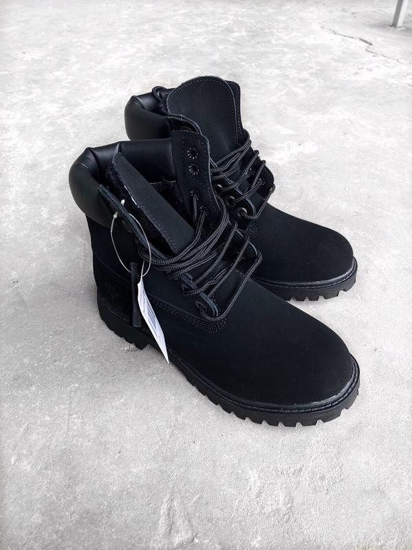 Timberland woman boots black женские демисезонные ботинки чёрн...