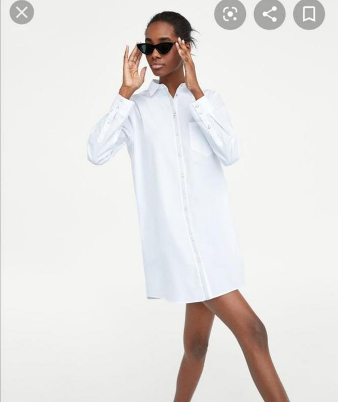 Платье рубашка на кнопках zara