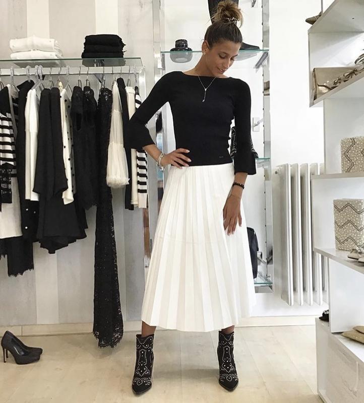 Трендовая стильная нарядная белая юбка плиссе