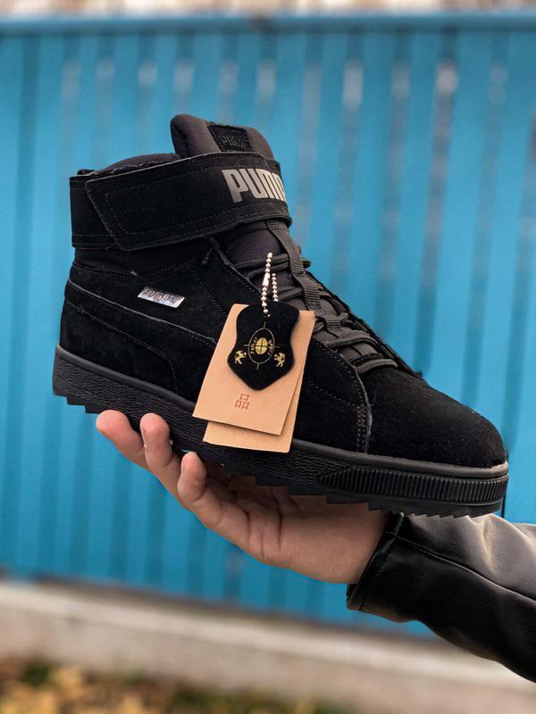 Шикарные мужские зимние кроссовки ❣️ puma winter boot black ❣️...
