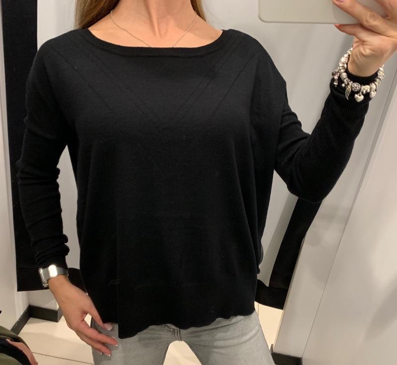 Легкий чёрный свитер джемпер кофточка mohito есть размеры