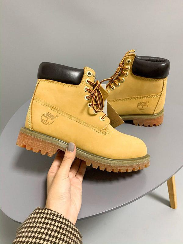 Шикарные женские осенние ботинки timberland ginger 😍 (без меха...