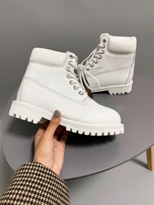 Шикарные женские осенние ботинки timberland white 😍 (без меха/...