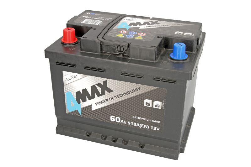 Аккумуляторная батарея 4Max 60Ah/510А