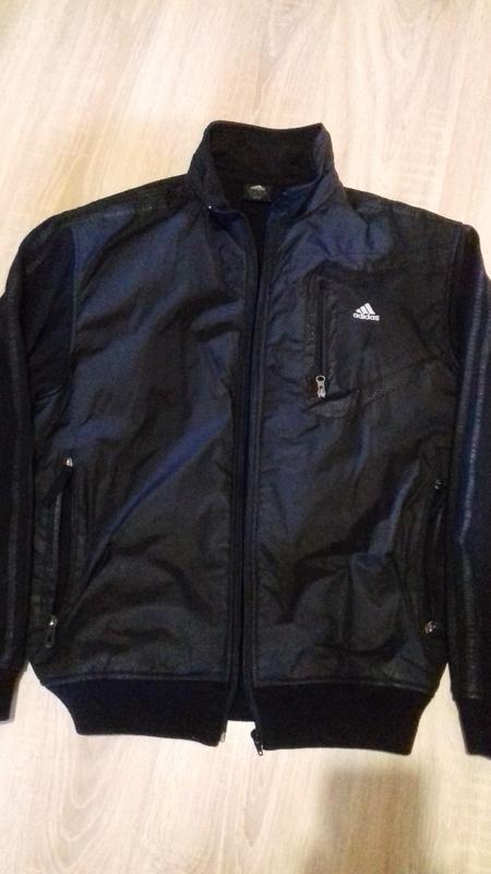 Куртка мужская плащевка + трикотаж аdidas