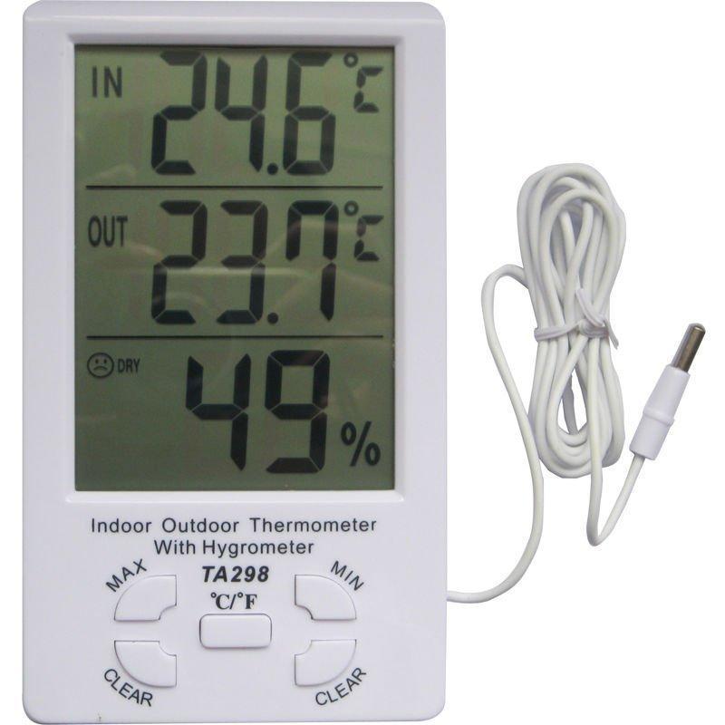 Метеостанция термометр гигрометр часы с выносным датчиком TA298 - Фото 3