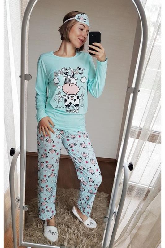 Пижама женская с коровкой