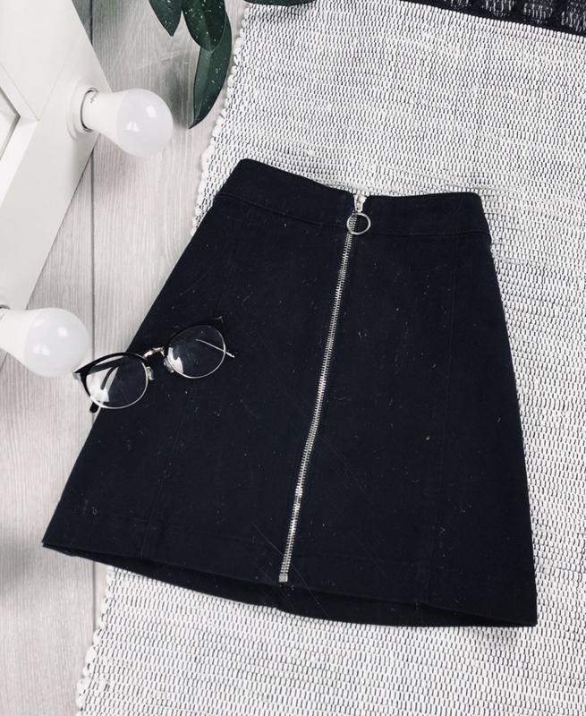 Актуальная джинсовая юбка трапеция от h&m