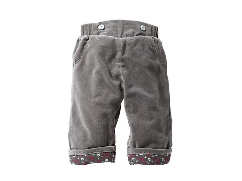 Новые! 0-3 мес, р. 62, велюровые штанишки на подкладке lupilu