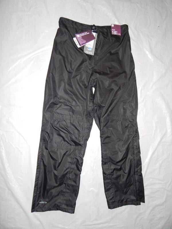 1-4 xl, непромокаемые штаны дождевик унисекс mountain warehous...