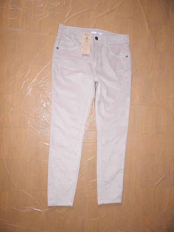 Р. 146-152-158 джинсы скинни с блестками marks&spencer