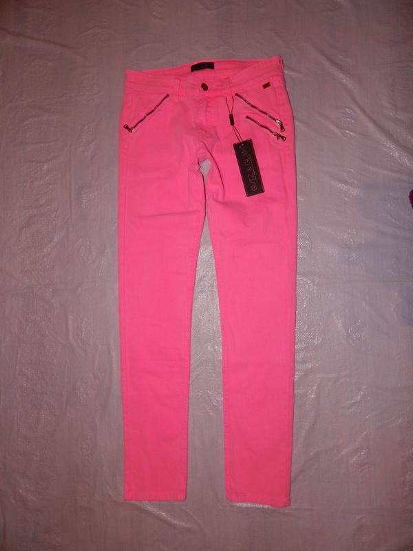 Xs-s-m, три размера! новые! узкачи джинсы скинни glitz&glam, н...