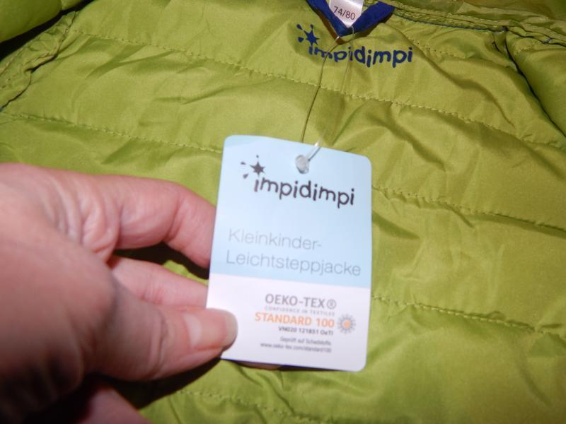 Р. 74-80-86  куртка легкая термо демисезон стеганая impidimpi ... - Фото 7