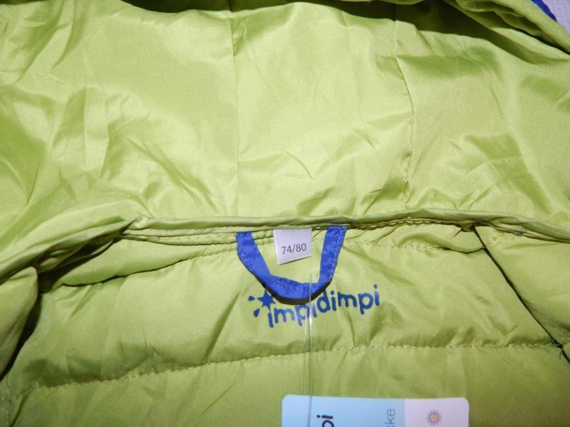 Р. 74-80-86  куртка легкая термо демисезон стеганая impidimpi ... - Фото 8