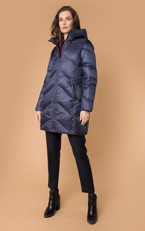 Куртка синяя пуховик натуральный зима зимняя mr520