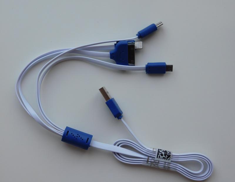 USB кабель 4in1 4S/5S/Micro/Mini USB плоский