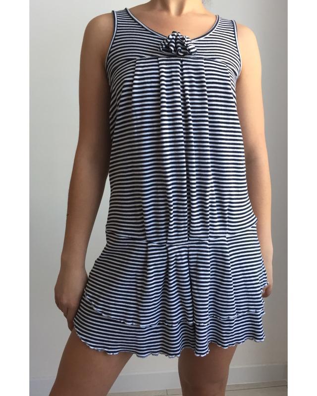 Платье, плаття полосате.